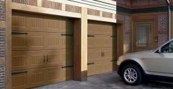 Puertas garaje seccionales de madera