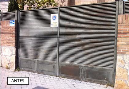Puerta abatible Alcorcón